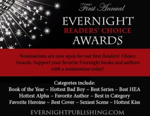 Click to see: Join us for the First Annual EVERNIGHT READERS' CHOICE AWARDS!