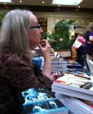 Donna McDonald at the book signing